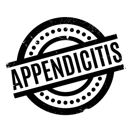 Appendicitis rubber stamp. Grunge design with dust scratches. Effects can be easily removed for a clean, crisp look. Color is easily changed. Illustration