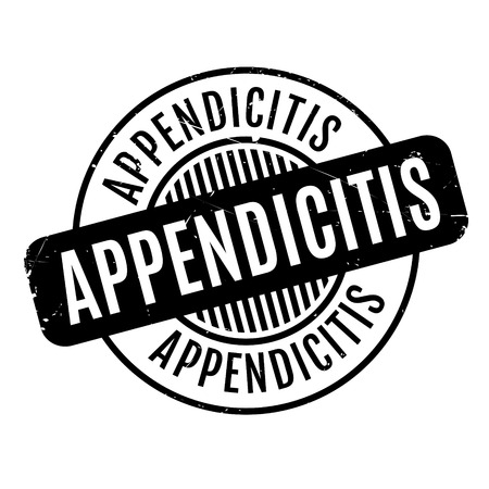 appendicitis: Appendicitis rubber stamp. Grunge design with dust scratches. Effects can be easily removed for a clean, crisp look. Color is easily changed. Illustration