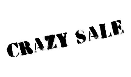 daft: Crazy Sale rubber stamp. Grunge design with dust scratches. Effects can be easily removed for a clean, crisp look. Color is easily changed.