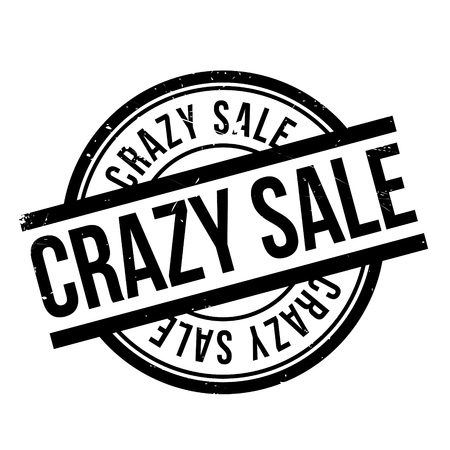 maniacal: Crazy Sale rubber stamp. Grunge design with dust scratches. Effects can be easily removed for a clean, crisp look. Color is easily changed.