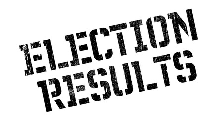 local elections: Election Results rubber stamp. Grunge design with dust scratches. Effects can be easily removed for a clean, crisp look. Color is easily changed.