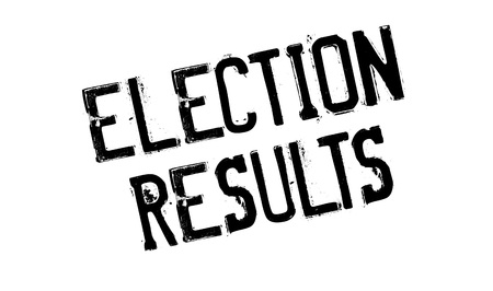 local council election: Election Results rubber stamp. Grunge design with dust scratches. Effects can be easily removed for a clean, crisp look. Color is easily changed.