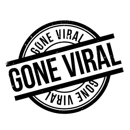 gone: Gone Viral rubber stamp. Grunge design with dust scratches. Effects can be easily removed for a clean, crisp look. Color is easily changed.
