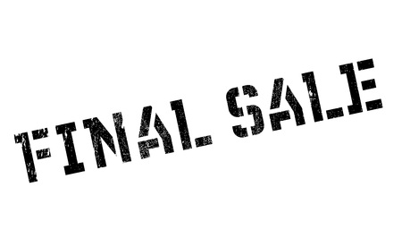 terminating: Final Sale rubber stamp. Grunge design with dust scratches. Effects can be easily removed for a clean, crisp look. Color is easily changed.