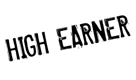 wage earner: High Earner rubber stamp. Grunge design with dust scratches. Effects can be easily removed for a clean, crisp look. Color is easily changed.