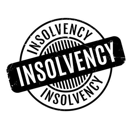 bailout: Insolvency rubber stamp. Grunge design with dust scratches. Effects can be easily removed for a clean, crisp look. Color is easily changed.