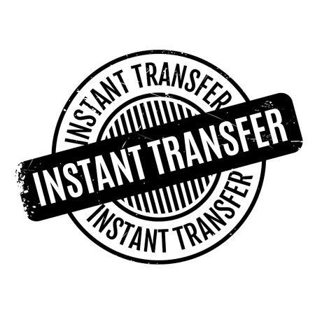 existent: Instant Transfer rubber stamp. Grunge design with dust scratches. Effects can be easily removed for a clean, crisp look. Color is easily changed. Stock Photo