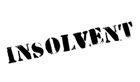 Insolvent rubber stamp. Grunge design with dust scratches. Effects can be easily removed for a clean, crisp look. Color is easily changed.