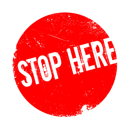 Stop Here rubber stamp