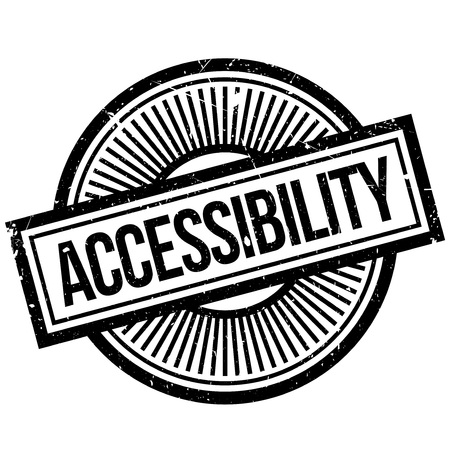 openness: Accessibility rubber stamp. Grunge design with dust scratches. Effects can be easily removed for a clean, crisp look. Color is easily changed. Illustration