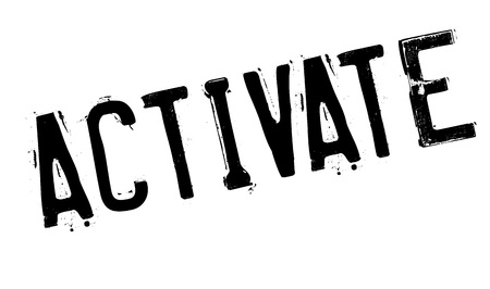 founding: Activate rubber stamp. Grunge design with dust scratches. Effects can be easily removed for a clean, crisp look. Color is easily changed.