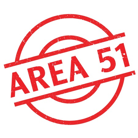 ufo conspiracy theory: Area 51 rubber stamp. Grunge design with dust scratches. Effects can be easily removed for a clean, crisp look. Color is easily changed.