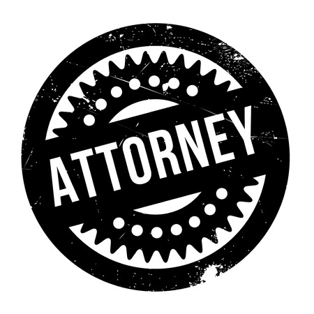 juridical: Attorney rubber stamp. Grunge design with dust scratches. Effects can be easily removed for a clean, crisp look. Color is easily changed.
