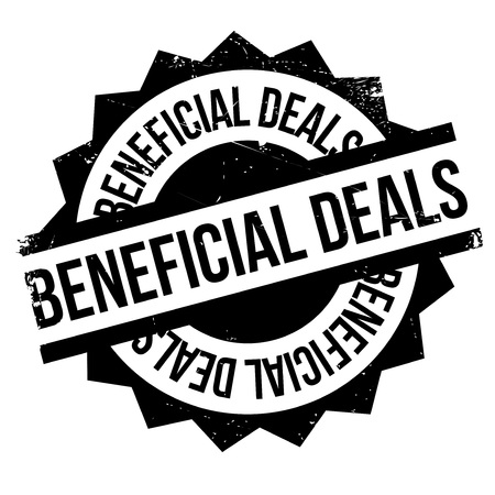 favoring: Beneficial Deals rubber stamp. Grunge design with dust scratches. Effects can be easily removed for a clean, crisp look. Color is easily changed. Illustration