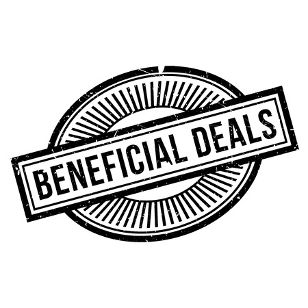 favoring: Beneficial Deals rubber stamp. Grunge design with dust scratches. Effects can be easily removed for a clean, crisp look. Color is easily changed. Stock Photo