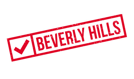 Beverly Hills rubber stamp. Grunge design with dust scratches. Effects can be easily removed for a clean, crisp look. Color is easily changed. Illustration
