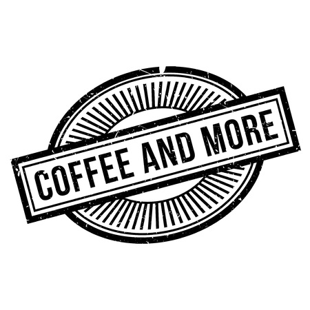 major: Coffee And More rubber stamp. Grunge design with dust scratches. Effects can be easily removed for a clean, crisp look. Color is easily changed.