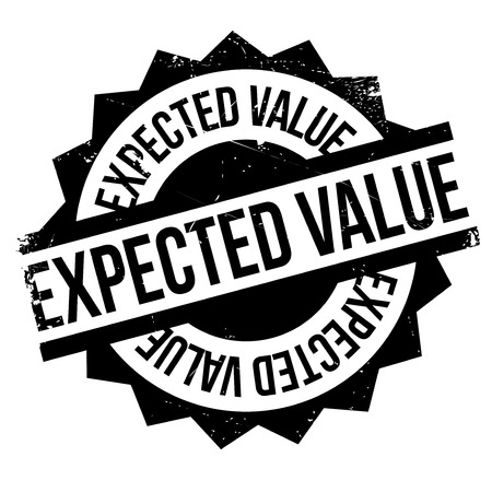 Expected Value rubber stamp. Grunge design with dust scratches. Effects can be easily removed for a clean, crisp look. Color is easily changed.