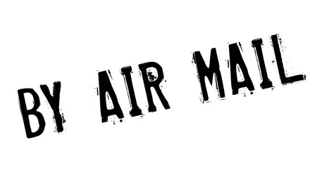 By Air Mail rubber stamp. Grunge design with dust scratches. Effects can be easily removed for a clean, crisp look. Color is easily changed. Illustration