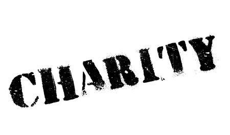 Charity rubber stamp. Grunge design with dust scratches. Effects can be easily removed for a clean, crisp look. Color is easily changed.