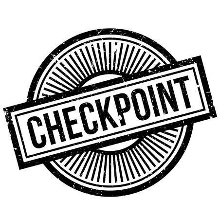 gunfire: Checkpoint rubber stamp. Grunge design with dust scratches. Effects can be easily removed for a clean, crisp look. Color is easily changed.