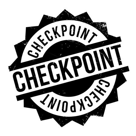 charlie: Checkpoint rubber stamp. Grunge design with dust scratches. Effects can be easily removed for a clean, crisp look. Color is easily changed.