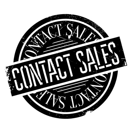 consuming: Contact Sales rubber stamp. Grunge design with dust scratches. Effects can be easily removed for a clean, crisp look. Color is easily changed.