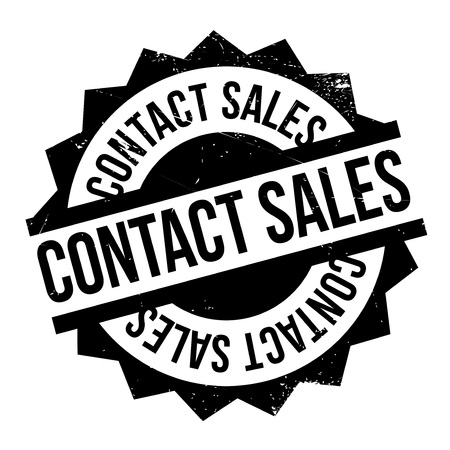 acquaintance: Contact Sales rubber stamp. Grunge design with dust scratches. Effects can be easily removed for a clean, crisp look. Color is easily changed.