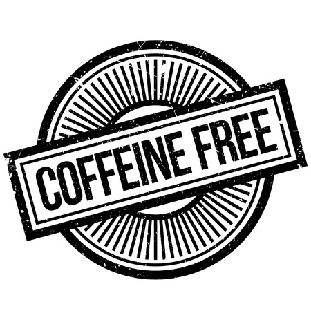 handout: Coffeine Free rubber stamp. Grunge design with dust scratches. Effects can be easily removed for a clean, crisp look. Color is easily changed.