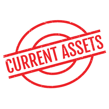current account: Current Assets rubber stamp. Grunge design with dust scratches. Effects can be easily removed for a clean, crisp look. Color is easily changed.
