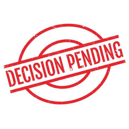 imminent: Decision Pending rubber stamp. Grunge design with dust scratches. Effects can be easily removed for a clean, crisp look. Color is easily changed.