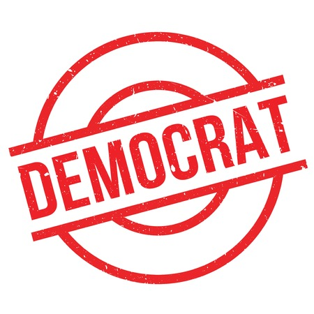 conservative: Democrat rubber stamp. Grunge design with dust scratches. Effects can be easily removed for a clean, crisp look. Color is easily changed. Illustration