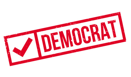 rightwing: Democrat rubber stamp. Grunge design with dust scratches. Effects can be easily removed for a clean, crisp look. Color is easily changed. Illustration