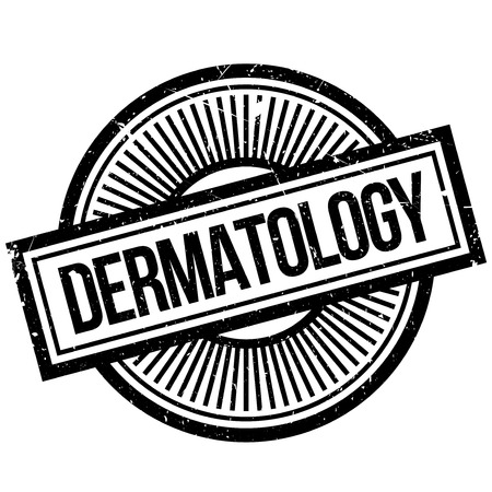 specialist: Dermatology rubber stamp. Grunge design with dust scratches. Effects can be easily removed for a clean, crisp look. Color is easily changed. Illustration