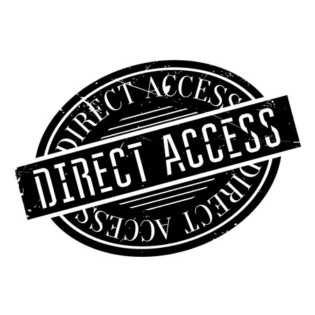 Direct Access rubber stamp. Grunge design with dust scratches. Effects can be easily removed for a clean, crisp look. Color is easily changed.