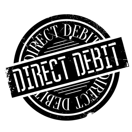 payer: Direct Debit rubber stamp. Grunge design with dust scratches. Effects can be easily removed for a clean, crisp look. Color is easily changed.
