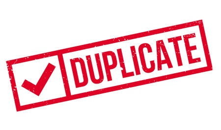 dualistic: Duplicate rubber stamp. Grunge design with dust scratches. Effects can be easily removed for a clean, crisp look. Color is easily changed.