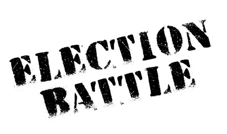 Election Battle rubber stamp. Grunge design with dust scratches. Effects can be easily removed for a clean, crisp look. Color is easily changed.