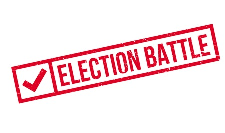 conservatives: Election Battle rubber stamp. Grunge design with dust scratches. Effects can be easily removed for a clean, crisp look. Color is easily changed.