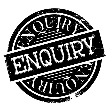 Enquiry rubber stamp. Grunge design with dust scratches. Effects can be easily removed for a clean, crisp look. Color is easily changed. Illustration
