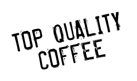 affirmation: Top Quality Coffee rubber stamp. Grunge design with dust scratches. Effects can be easily removed for a clean, crisp look. Color is easily changed. Illustration