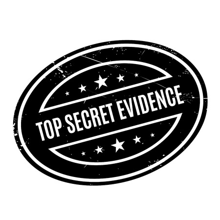 furtive: Top Secret Evidence rubber stamp. Grunge design with dust scratches. Effects can be easily removed for a clean, crisp look. Color is easily changed.