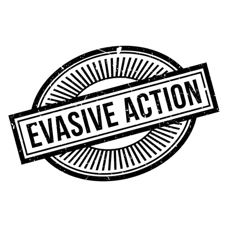 evade: Evasive Action rubber stamp. Grunge design with dust scratches. Effects can be easily removed for a clean, crisp look. Color is easily changed.