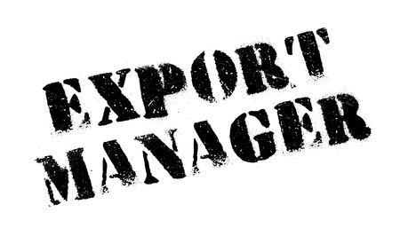 superintendent: Export Manager rubber stamp. Grunge design with dust scratches. Effects can be easily removed for a clean, crisp look. Color is easily changed.