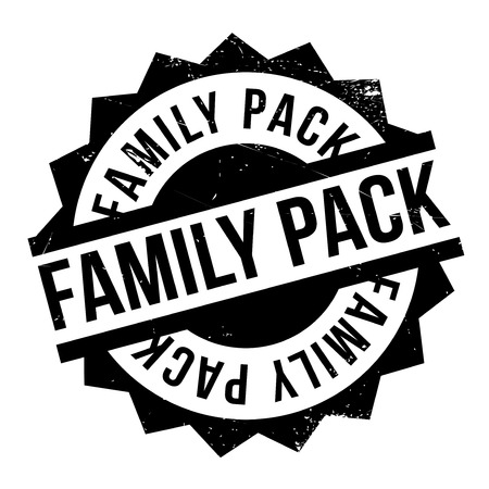 Family Pack rubber stamp. Grunge design with dust scratches. Effects can be easily removed for a clean, crisp look. Color is easily changed.