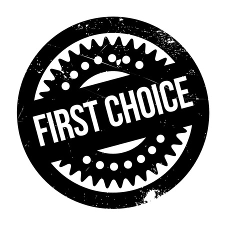 First Choice rubber stamp. Grunge design with dust scratches. Effects can be easily removed for a clean, crisp look. Color is easily changed.