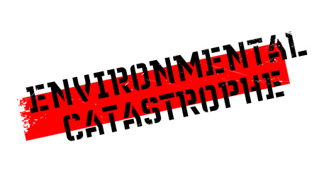 Environmental Catastrophe rubber stamp. Grunge design with dust scratches. Effects can be easily removed for a clean, crisp look. Color is easily changed. Illustration