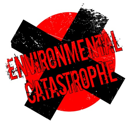 clime: Environmental Catastrophe rubber stamp. Grunge design with dust scratches. Effects can be easily removed for a clean, crisp look. Color is easily changed. Illustration