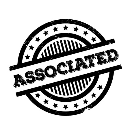 associated: Associated rubber stamp. Grunge design with dust scratches. Effects can be easily removed for a clean, crisp look. Color is easily changed. Illustration