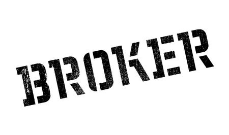 stockbroker: Broker rubber stamp. Grunge design with dust scratches. Effects can be easily removed for a clean, crisp look. Color is easily changed.